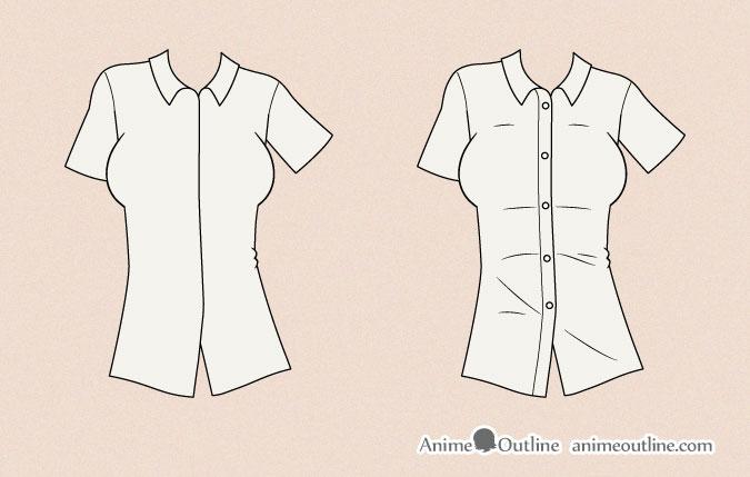Drawing anime shirt