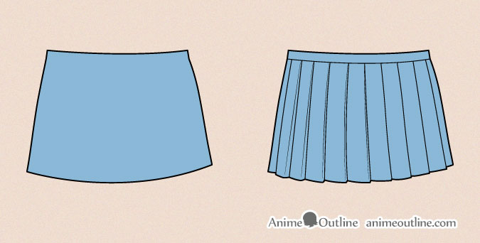 Drawing anime skirt