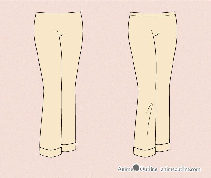 Drawing anime sweatpants