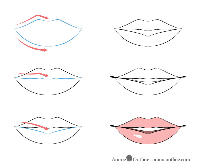Anime lips structure