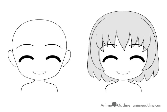 Anime chibi content facial expression drawing