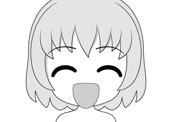 Anime chibi happy face