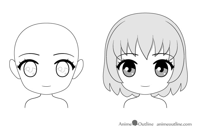 Anime chibi face drawing