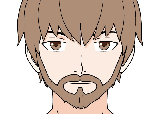 Anime facial hair