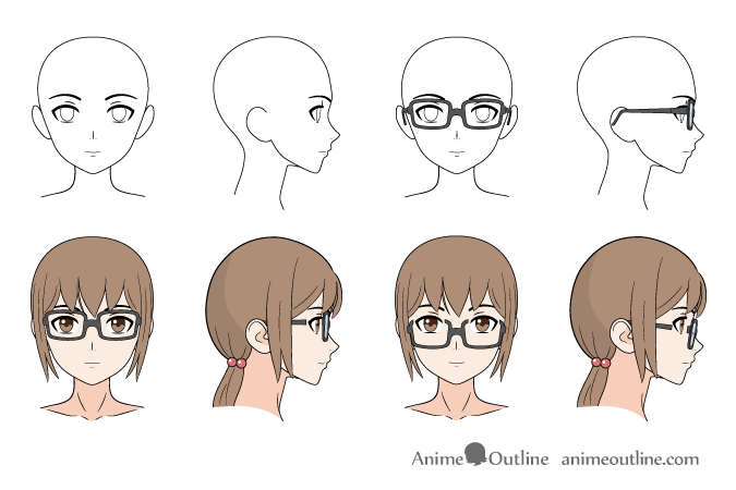 How to draw anime manga glasses