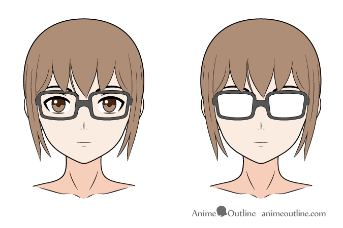 Anime glasses reflection