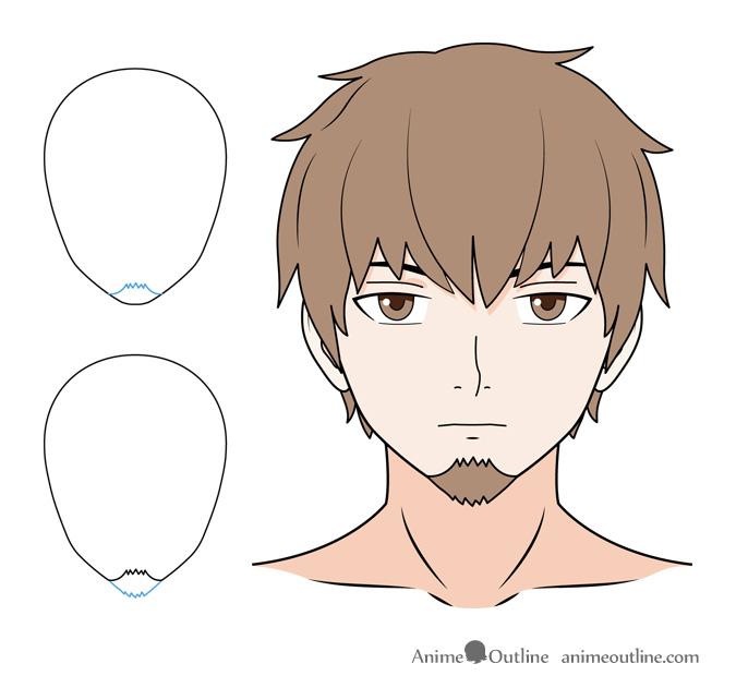 Anime goatee drawing