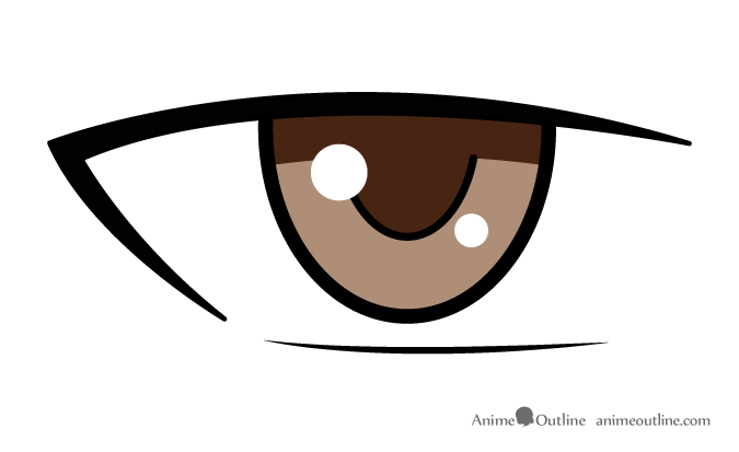 Anime male eye