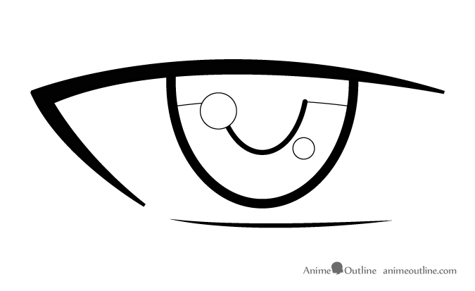 Anime male eye details