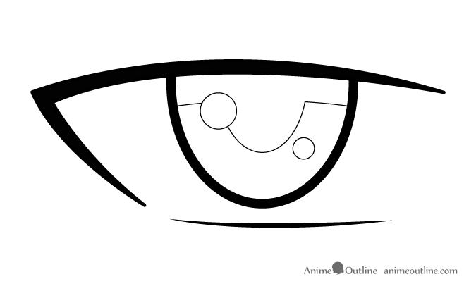 Anime male eye reflections