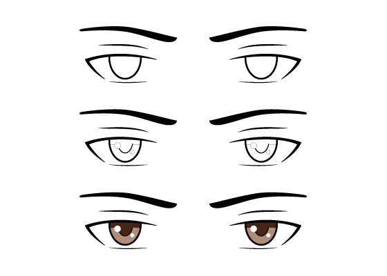 Male anime eyes