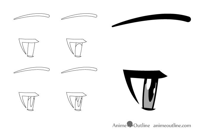 How to Draw Anime & Manga Eyes - Side View - AnimeOutline
