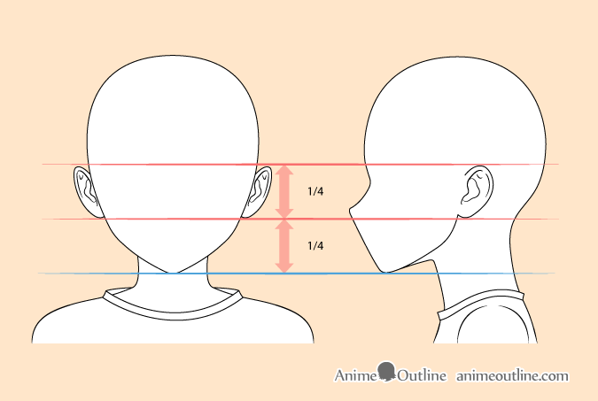 Anime boy ears drawing