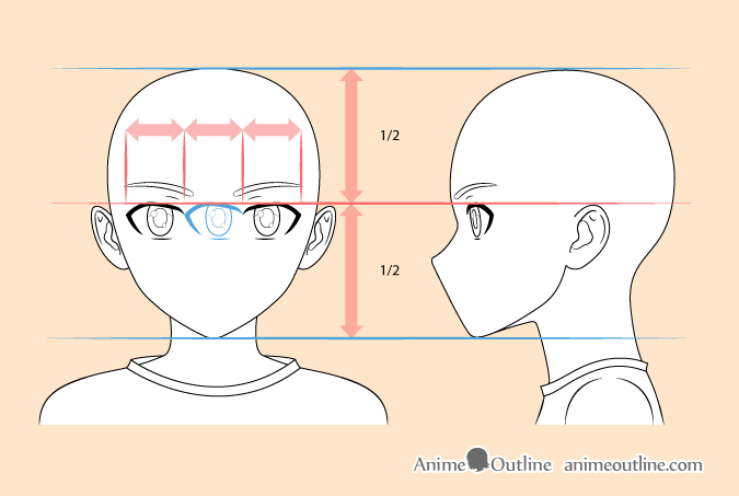 Anime boy eyes drawing