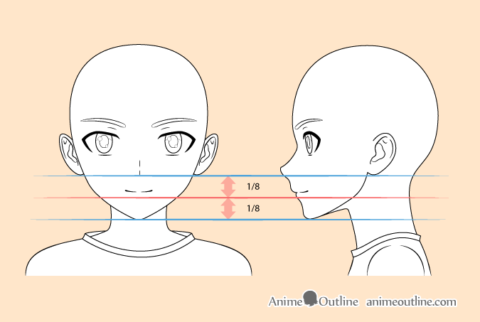 how to draw anime boy head