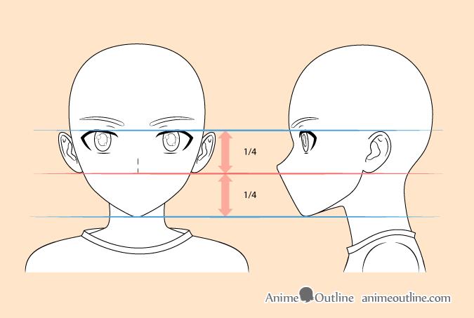 Anime boy nose drawing