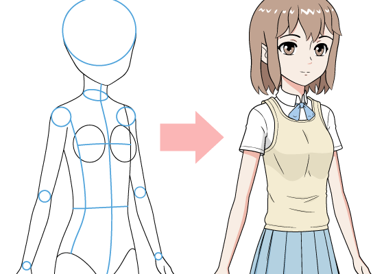 How to Draw an Anime School Girl in 6 Steps