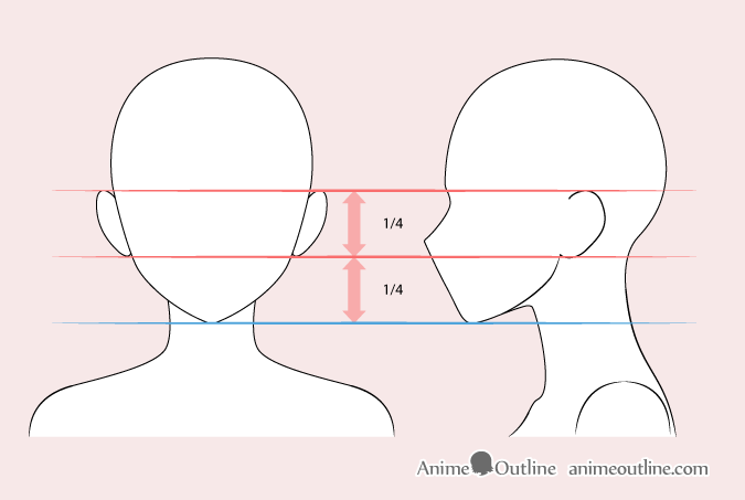 Anime woman ears drawing
