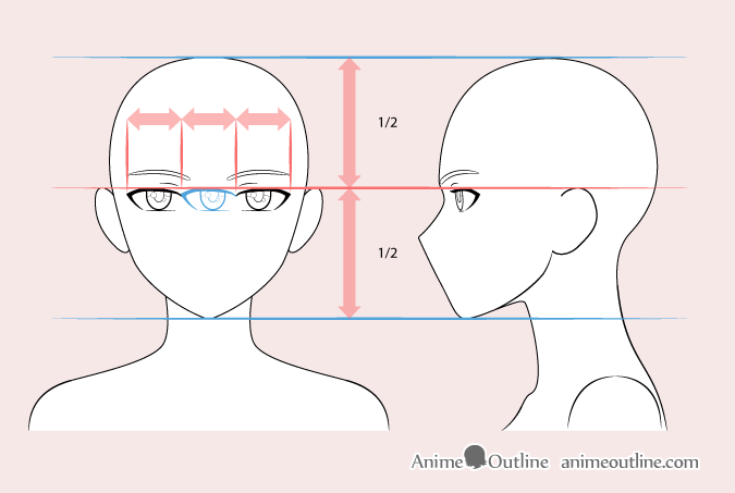Anime woman eyes drawing