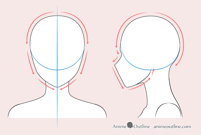 how to draw womans face