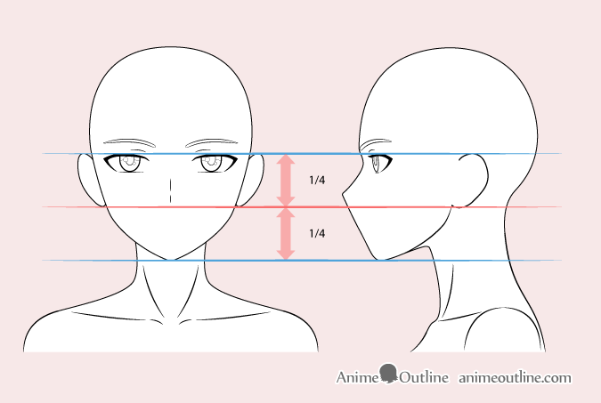 Anime woman nose drawing