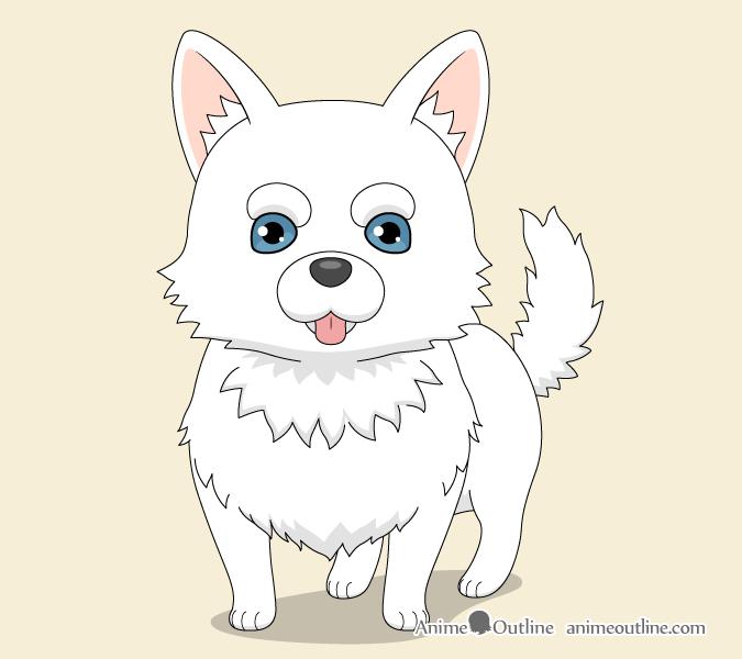 Anime dog drawing
