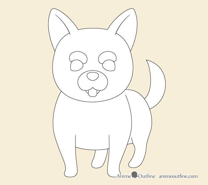 Aime dog facial features outline