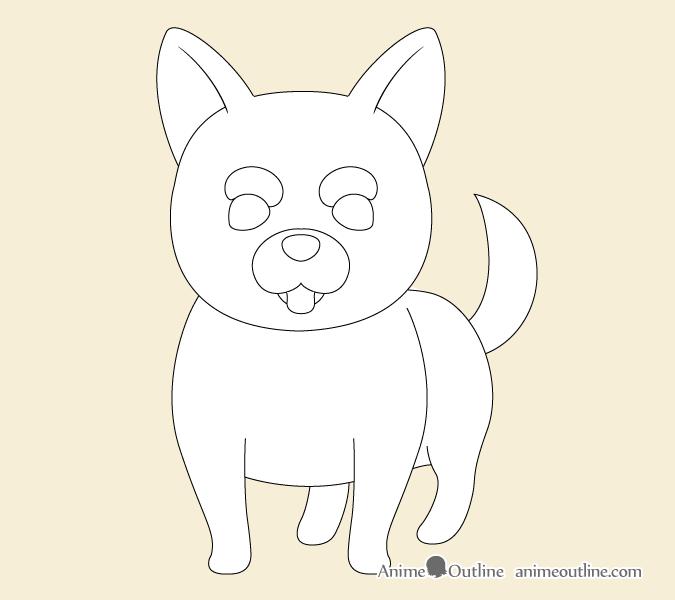 Aime dog facial features outline