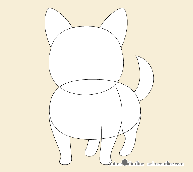 Anime dog proportions drawing