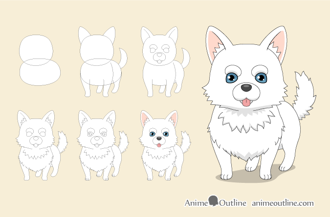 Must see Step By Step Anime Adorable Dog - anime_dog_step_by_step_drawing  Image_539798  .png