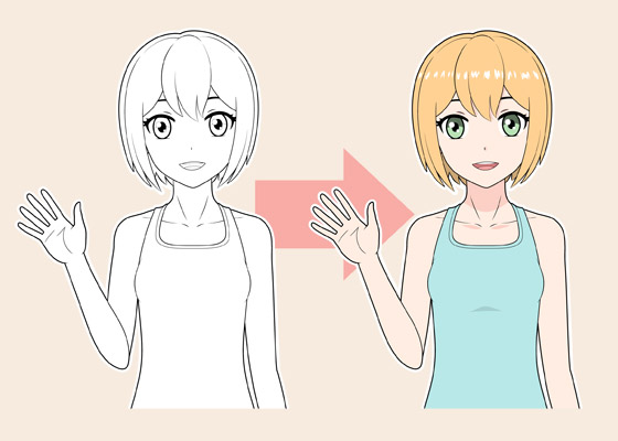 Anime girl coloring tutorial