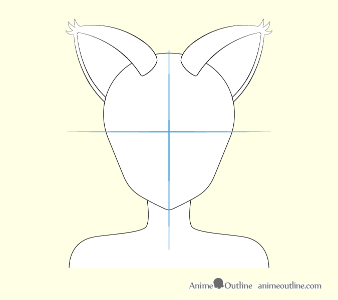 Anime cat girl ears drawing