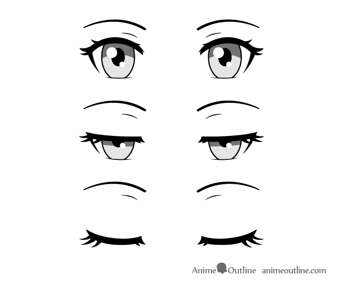 Anime eyes closing