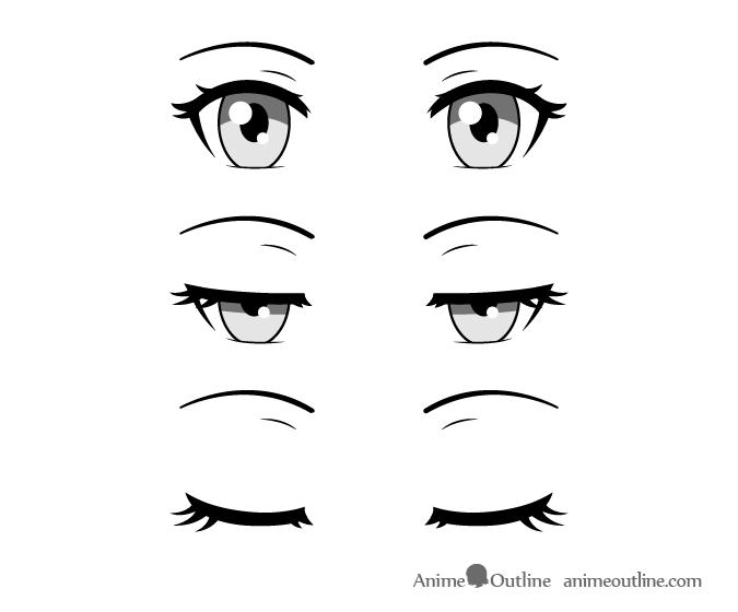 Anime eyes closing