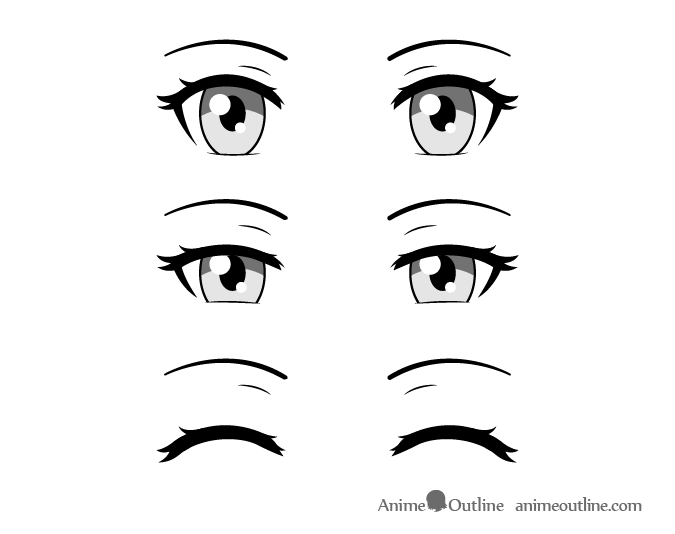 Anime eyes squinting