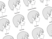 How to Draw Anime Facial Expressions – Side View