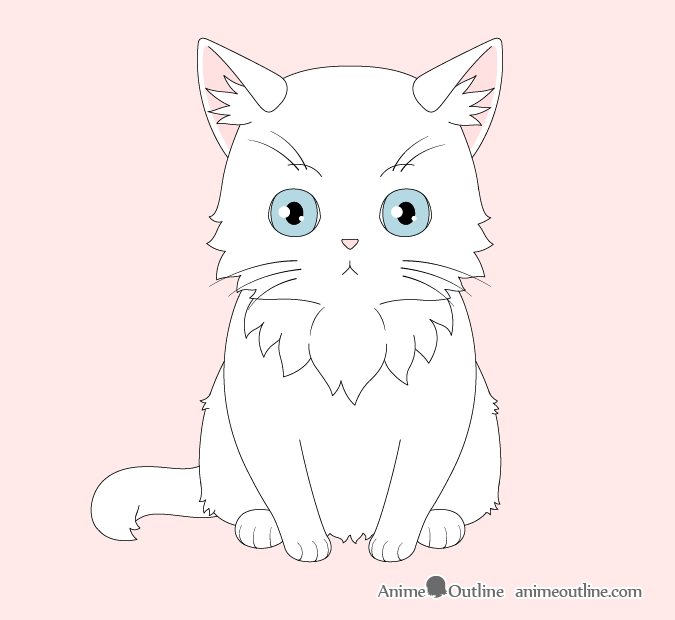Anime cat coloring