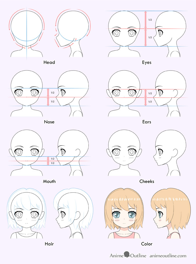 35+ Trends For Easy Anime Girl Drawings Step By Step