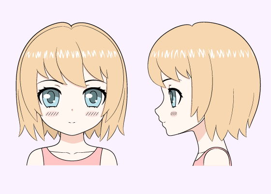 how to draw a cute manga girl step by step