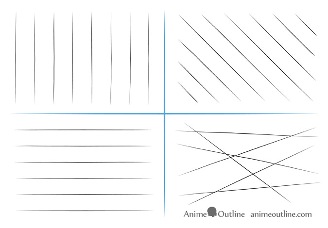 Straight line drawing exercises