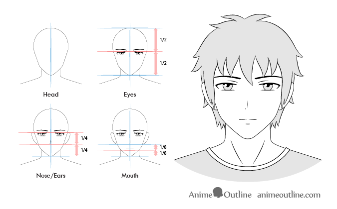 Anime male normal facial expression