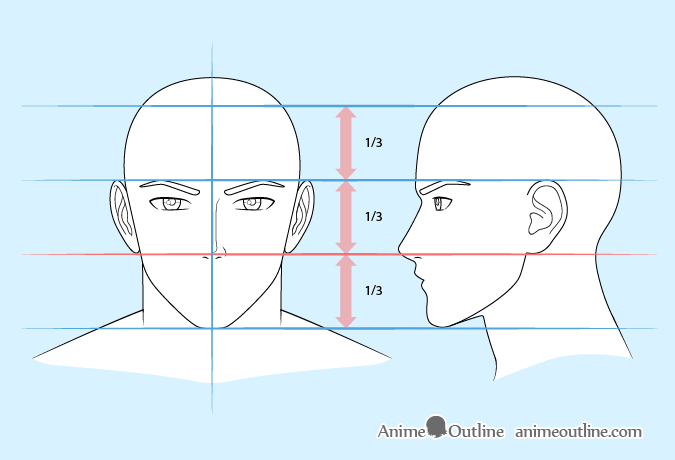 Anime man nose drawing