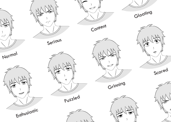12 anime male facial expressions chart amp tutorial