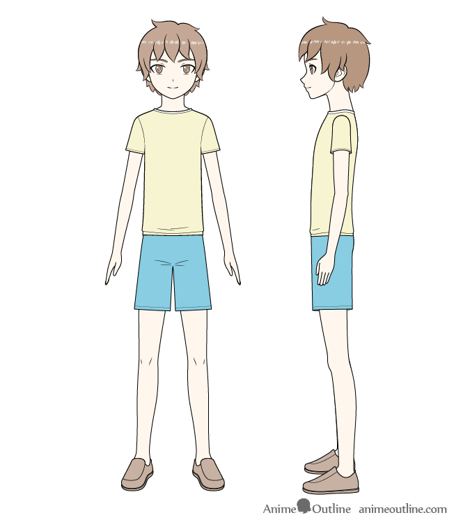 Anime boy full body coloring