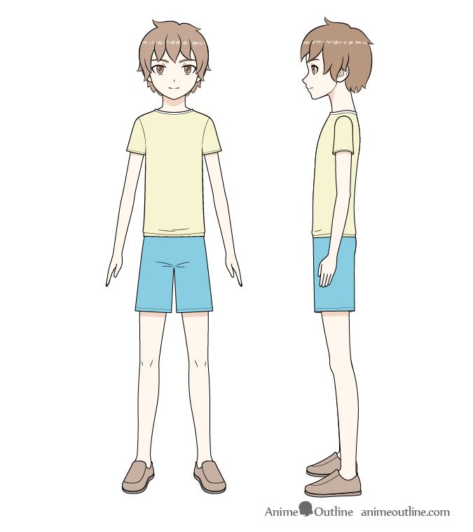 Anime boy full body drawing