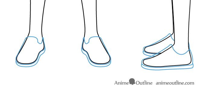 Anime boy shoes drawing