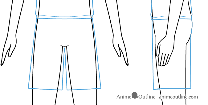 Anime boy shorts drawing