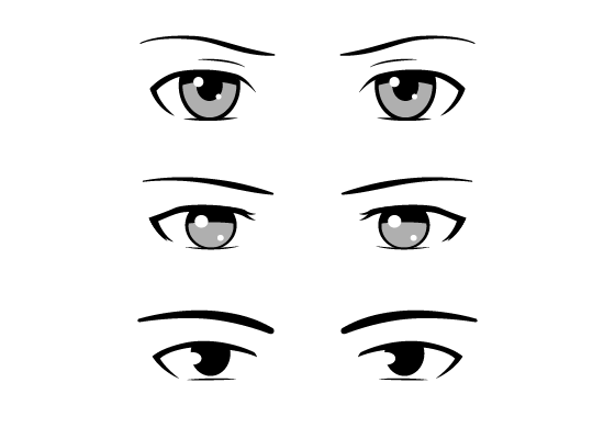 Anime male eye styles