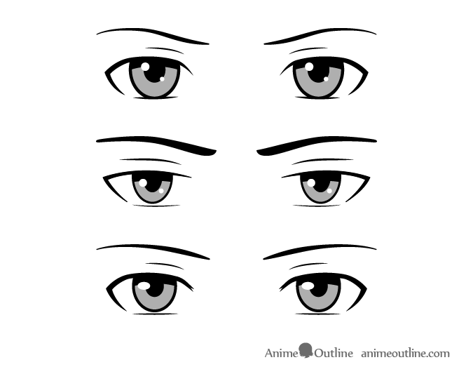 Common style male anime eyes