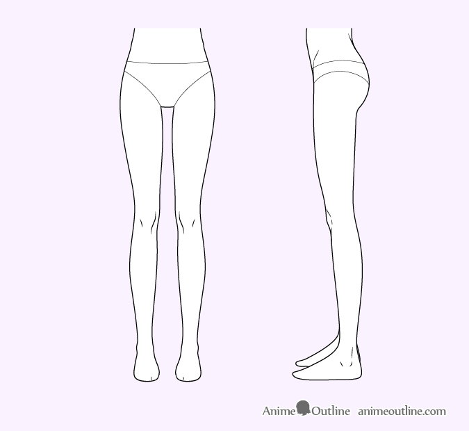 Female anime legs
